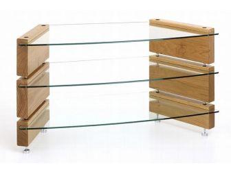 Low 3 Shelf Corner Tv Stand MILAN-LCD-CNR-3
