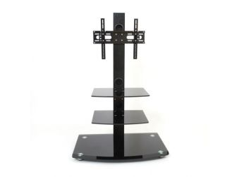 Black Cantilever Tv Stand DMS80