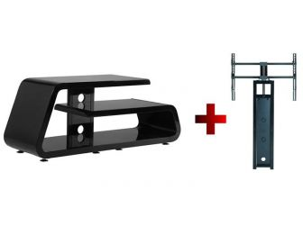 Black Tv Stand With Canteliver Bracket GAM1200-GB-B
