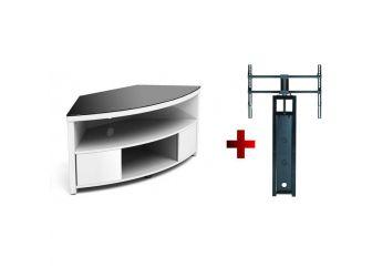 Corner White Cantilever Tv Cabinet IMP900-GW-B