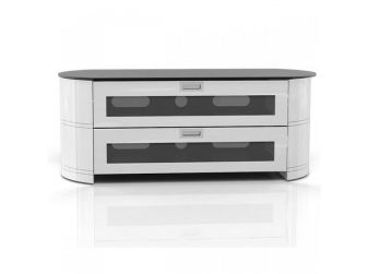 White Curved Tv Cabinet OPA1200-GW