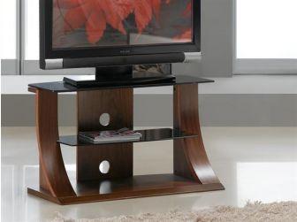 JF201 850 Curved Wood TV Stand Walnut