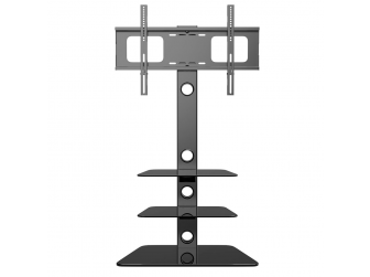Black Glass Cantilever Tv Stand AB-K177T