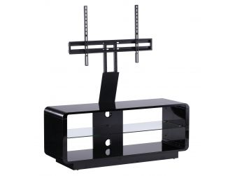 Luna 1200 Black TV stand With Optional Cantilever Bracket