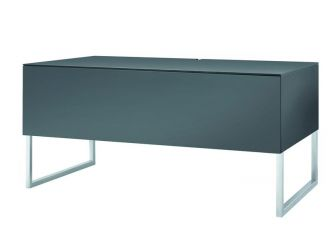 Grey Tv Cabinet With Chrome Stand KHALM-GR
