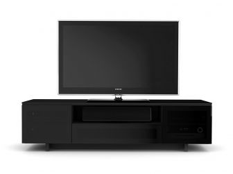 Gloss Black Slim TV Cabinet - NORA-SLIM-8239-GB