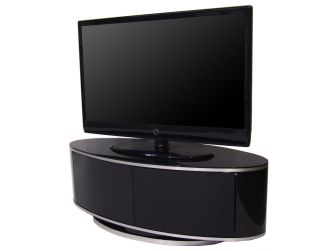Gloss Black Oval Swivel TV Cabinet Luna AV