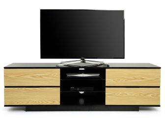 Gloss Black and Oak TV Cabinet Avitus