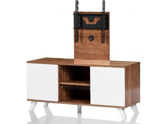 UKCF NEW Madrid Oak & White TV Stand