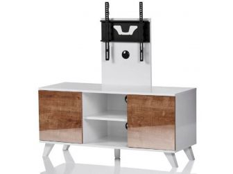 UKCF NEW Madrid White & Oak TV Stand