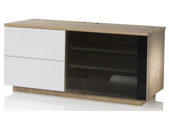 UKCF NEW Paris Oak & White TV Cabinet