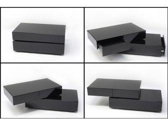 Black Swivel Coffee Table COF-BASEBOX-B