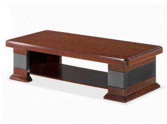 Executive Coffee Table Leather Detailing NAX-COF-UQ9CC