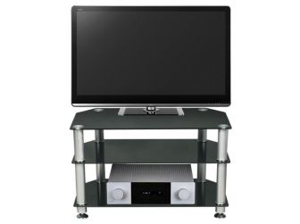 Black Glass Tv Stand STUK-1401-CHBL